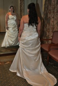 meagan wedding back